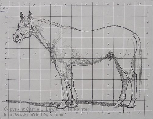 Umber Under Drawing Tutorial - Line Drawing