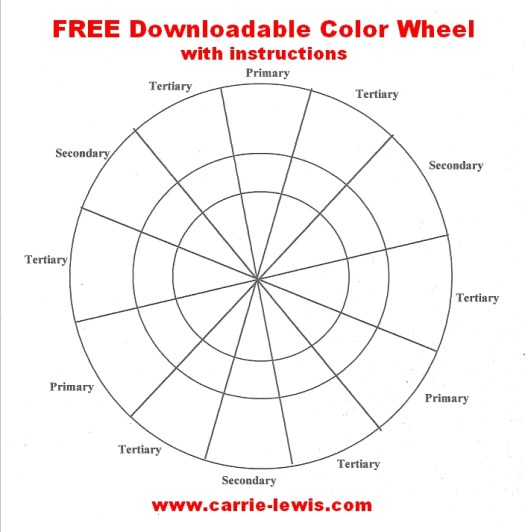 free color wheel value scale templates carrie l lewis artist