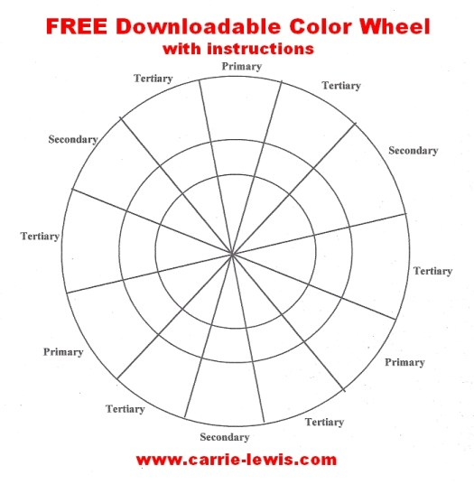 Free Downloadable Color Wheel