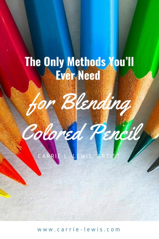 How to rub out coloured pencil