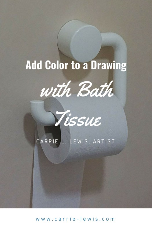 Add Color to a Colored Pencil Drawing with Bath Tissue