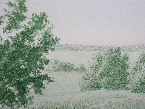 Drawing Distance - Green Landscape with Jade Green Added