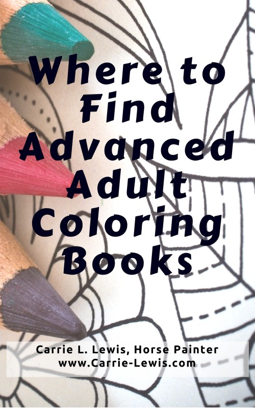 Where to Find Advanced Adult Coloring Books - Carrie L ...