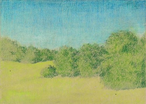 Blending Colored Pencil with Gamsol - First Blend
