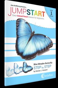 Blue Butterfly Colored Pencil Drawing Kits for Beginners