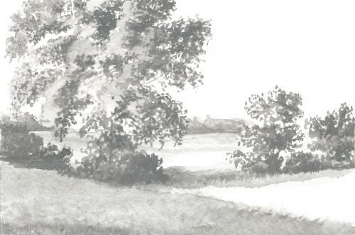 Weekly Drawing Week 2 - Gray Scale Landscape WS