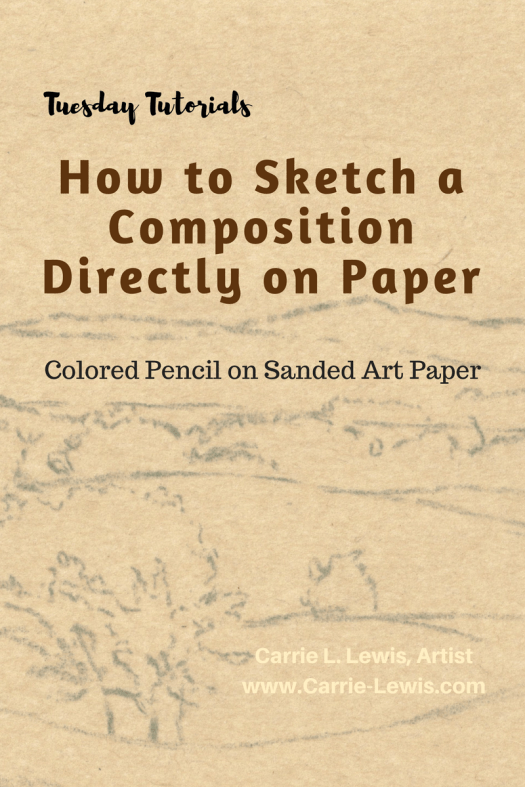 How to Sketch a Composition Directly on Paper