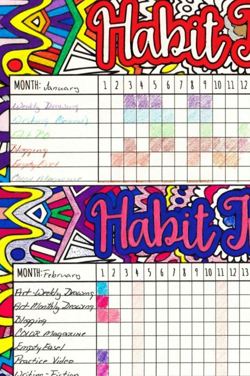 Monthly Habit Tracker Review Goals