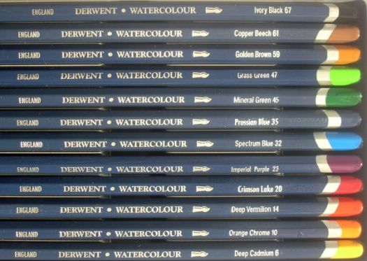 Derwent Watercolor Pencils in the Tin