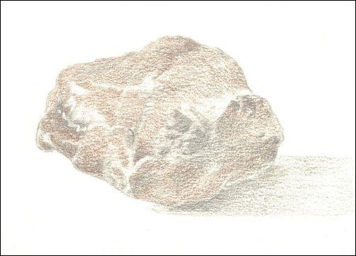 Draw Wet Stones - Step 4 Add Brown Layer