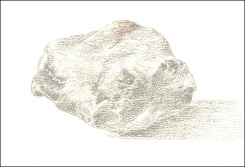 Draw Wet Stones - Step 4 Shade Middle Values
