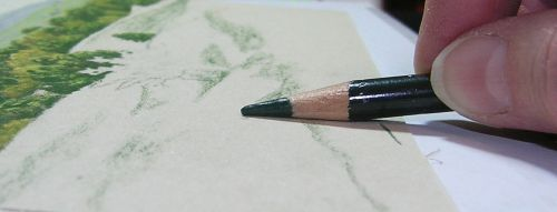 How to Draw Grassy Hills - Use the Side of the Pencil