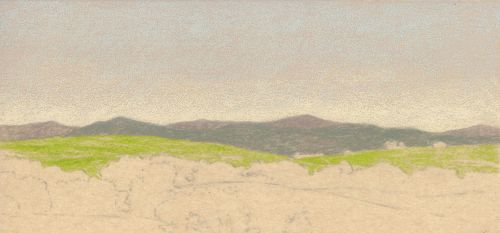 How to Draw Far Distance on Sanded Art Paper - Step 6
