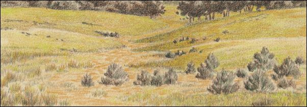 Umber Under Painting - Cloudy Landscape 14