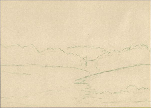 Umber Under Painting - Cloudy Landscape 2
