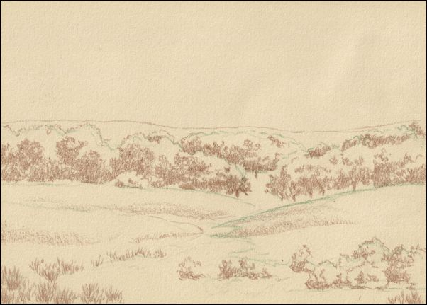 Umber Under Painting - Cloudy Landscape 3