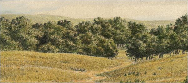 Umber Under Painting - Cloudy Landscape 30