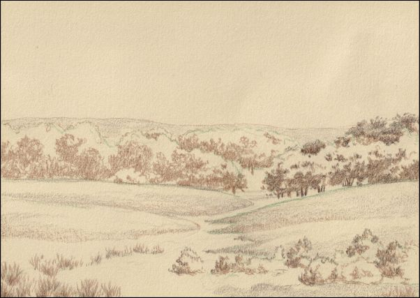Umber Under Painting - Cloudy Landscape 4