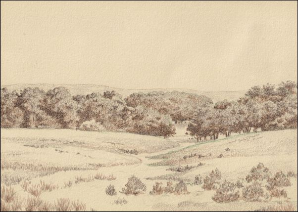 Umber Under Painting - Cloudy Landscape 6
