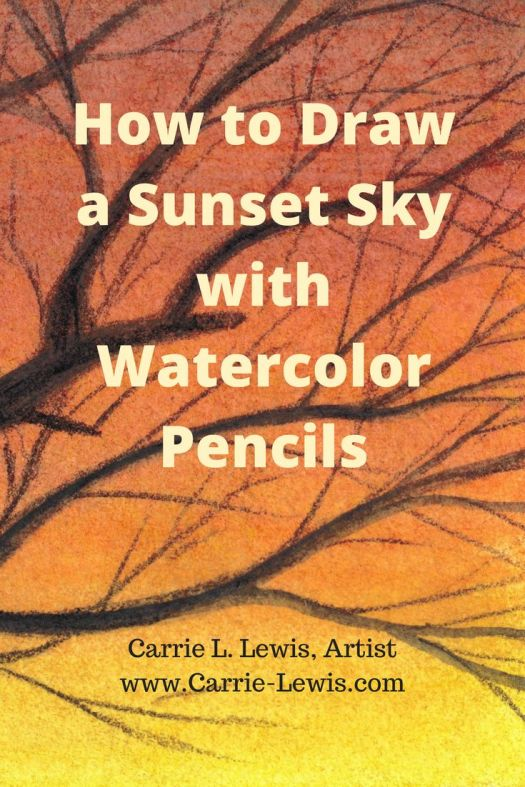 How to Draw a Sunset Sky with Watercolor Pencils