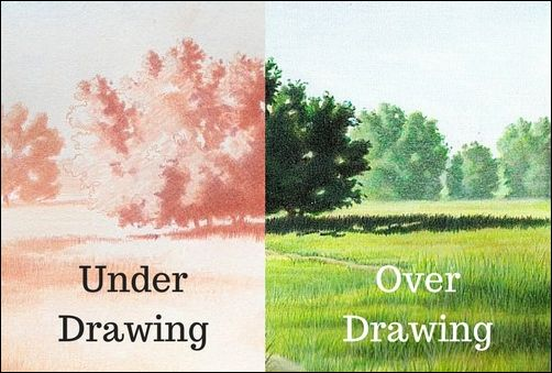 More Basic Colored Pencil Terms for Beginners - Under and Over Drawings