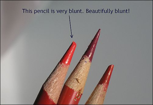 When to Use Blunt Colored Pencils - Very Blunt