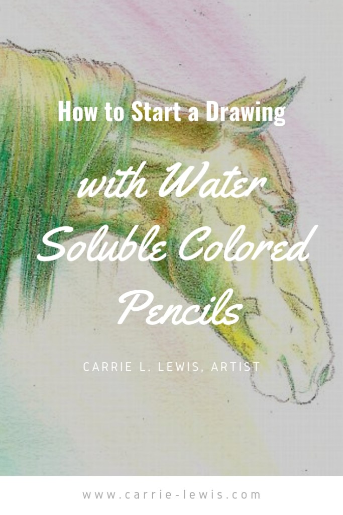 How to Start a Drawing with Water Soluble Colored Pencils