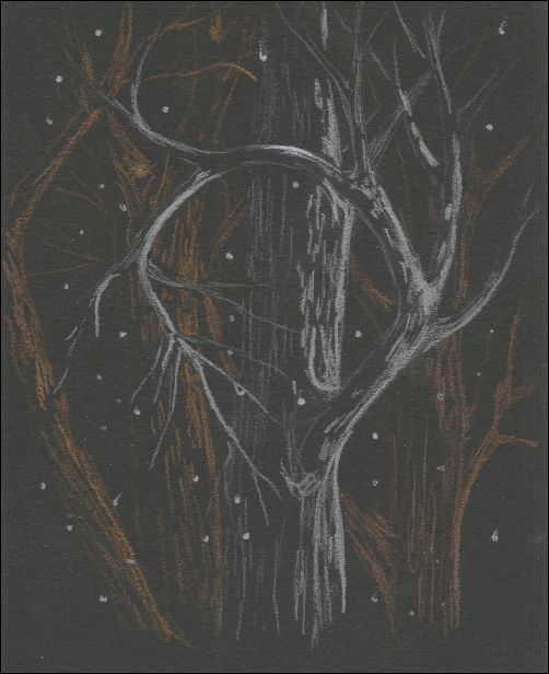 Metallic Colored Pencils on Black Paper 1