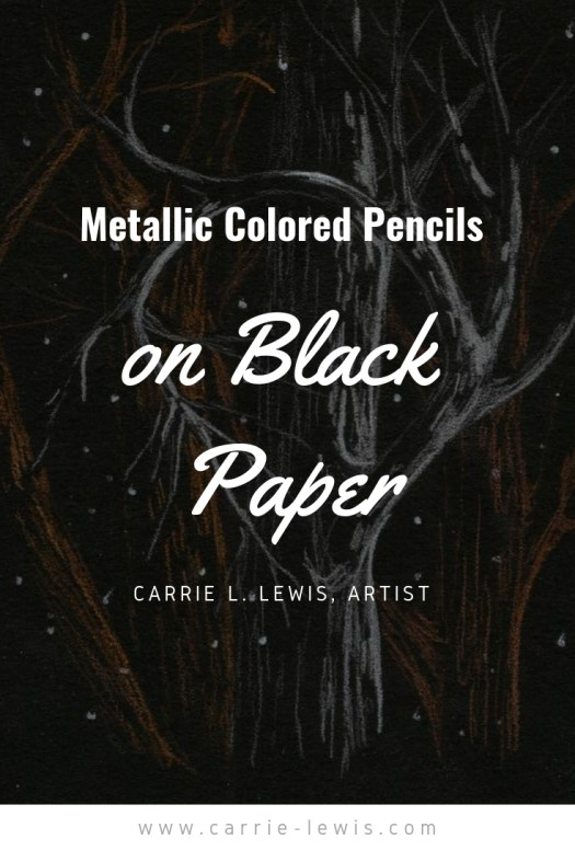Metallic Colored Pencils on Black Paper