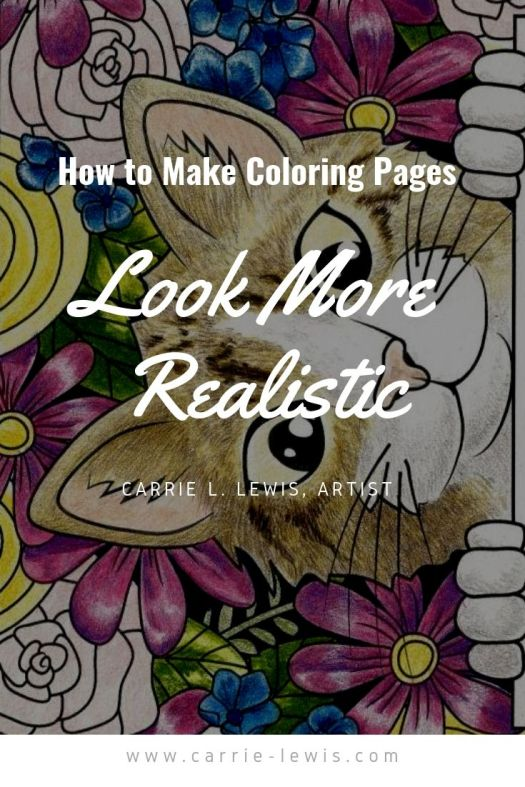 Make Coloring Pages Look More Realistic