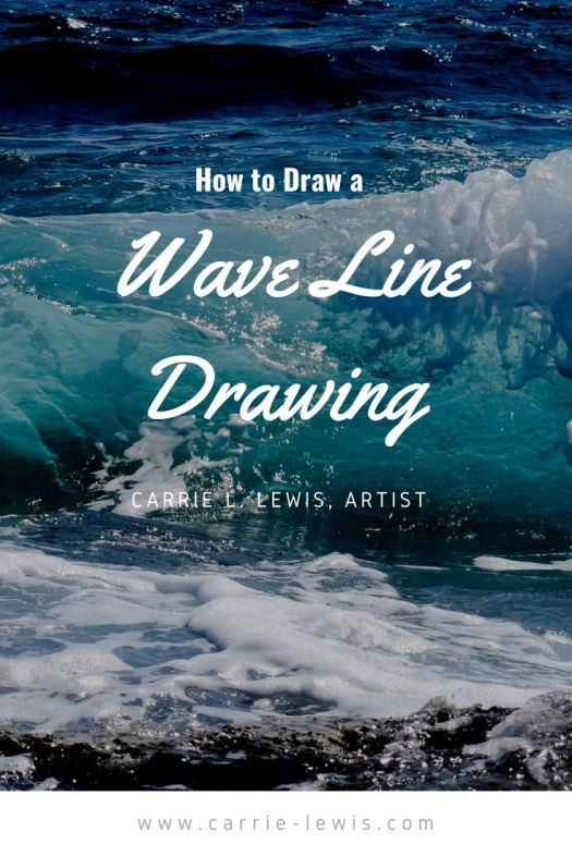 How to draw a wave line drawing