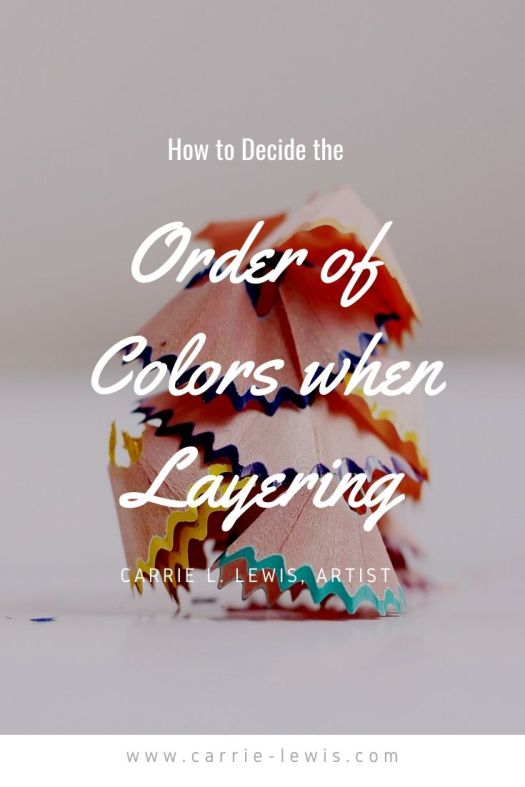How to Decide the Order of Colors when Layering