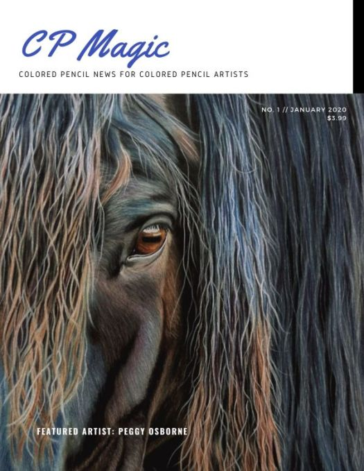 Magazine for Colored Pencil Artists CP Magic Magazine Initial Cover