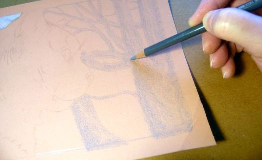 Smooth color layers is essential to drawing believable blurred backgrounds.