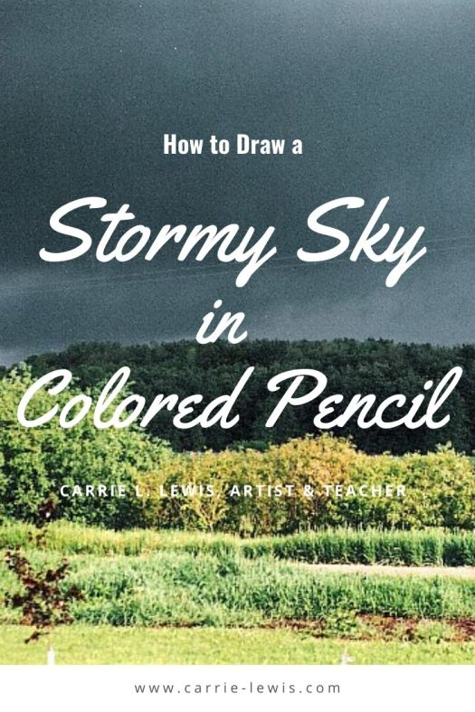 How to Draw a Stormy Sky in Colored Pencil