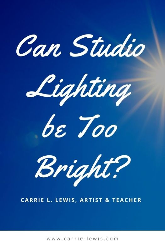 Can Studio Lighting be Too Bright?