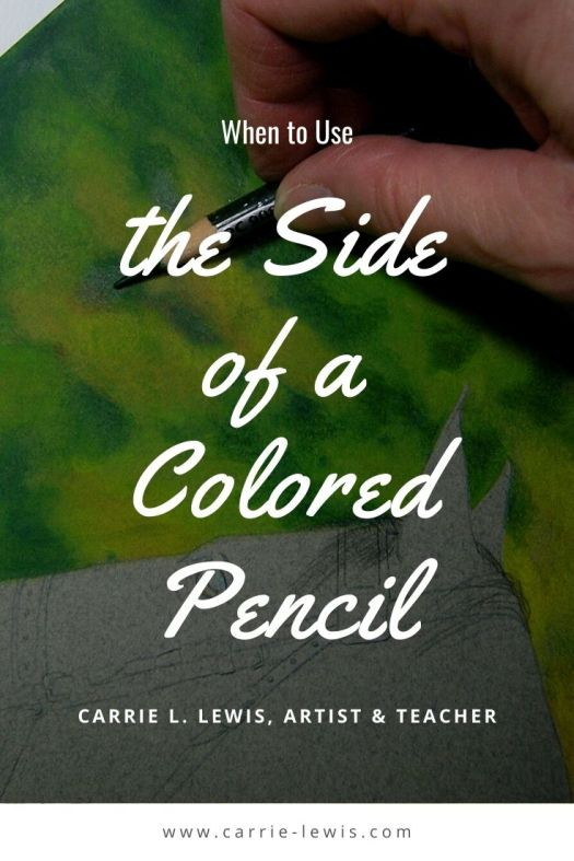 the Side of a Colored Pencil