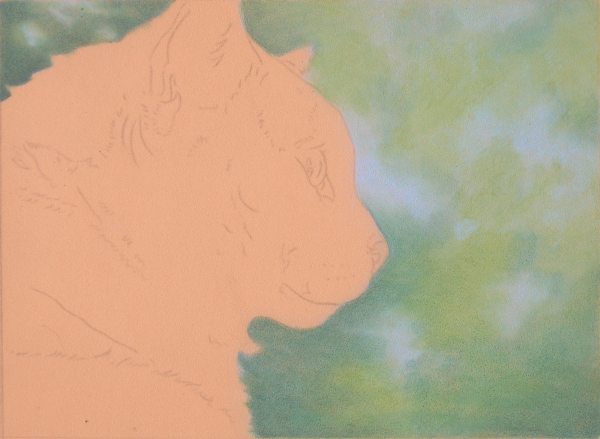 Blending backgrounds with powder blender can be faster and easier than drawing blurred backgrounds with traditional drawing methods.