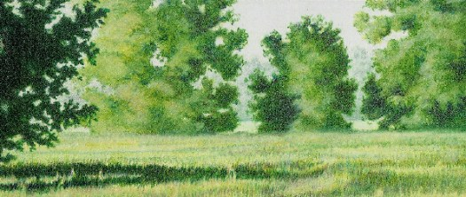 The final drawing with realistic landscape greens