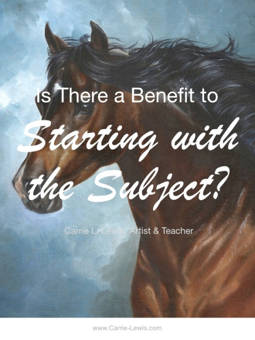 Benefit to Starting with the Subject