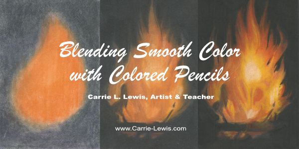 A Three Step Drawing Method for Colored Pencils