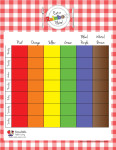 Rainbow Plate Sticker Chart