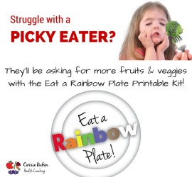 How to Get Your Kids to Eat More Veggies - The Eat a Rainbow Plate Printable Kit | Carrie Rubin Health Coaching