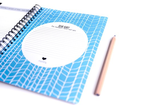 Personalized Custom Baby Book Blue Polka Dot Print Shop Product Photography Colorado Springs