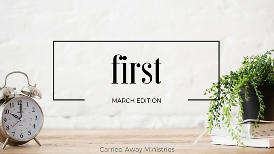 first - March