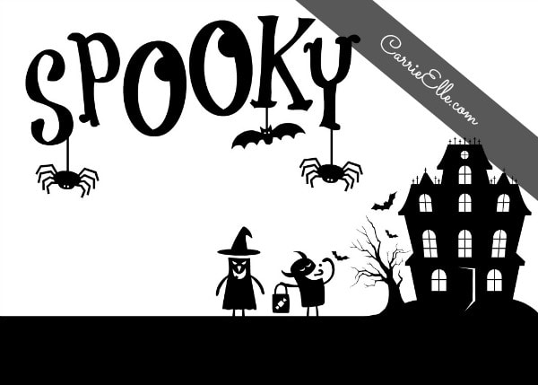 Free Halloween Printable Decoration Spooky