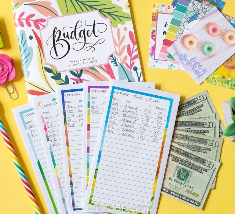 Printable Diy Cash Envelope System Carrie Elle