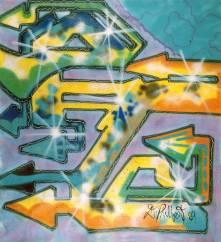 Untitled 1984 Spray su tela cml95xl80