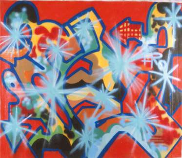 Untitled 1984 Spray su tela cm 21 Ox175