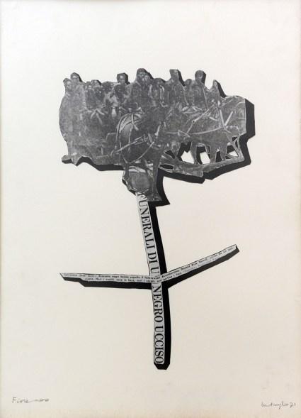 Mirella Bentivoglio. Fiore Nero, collage, 1971